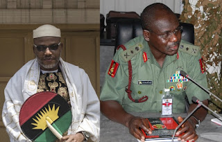 Ekweremadu's attack: Nnamdi Kanu offers N1m for Southeast governors' travel plan, places Chief of Army Staff Tukur Buratai on watchlist