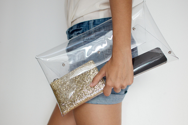 Mai Inspiration Diy Lace Transparent Clutch