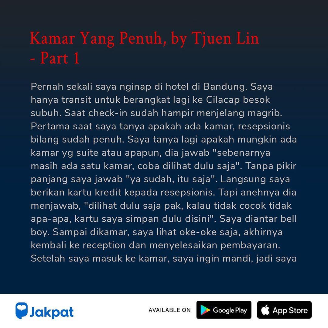 Kisah Misteri Kamar Yang Penuh, by Tjuen Lin Part 1