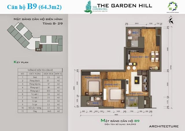 Thiết kế căn hộ B9 The Garden Hill