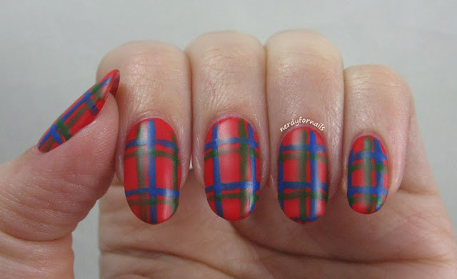 April 6th: National Tartan Day Plaid Nails