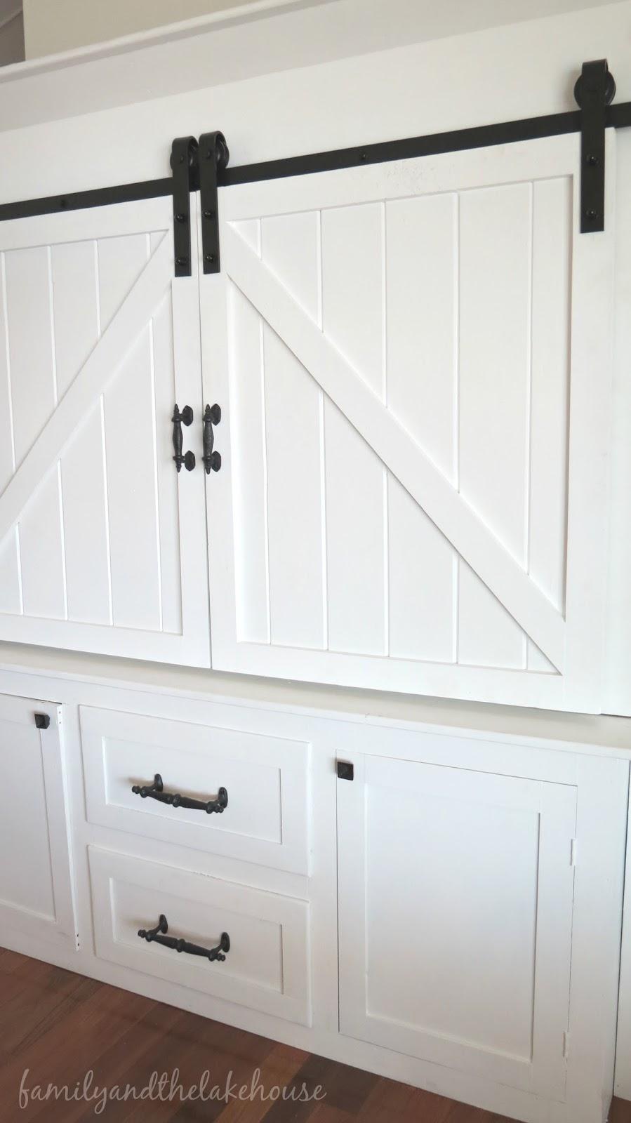 white sliding barn doors. Sliding Barn Door White Entertainment Center Unit - Family And The Lake House Www. Doors