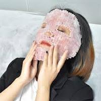 Rose Quartz face mask gemstone energy chakra beauty