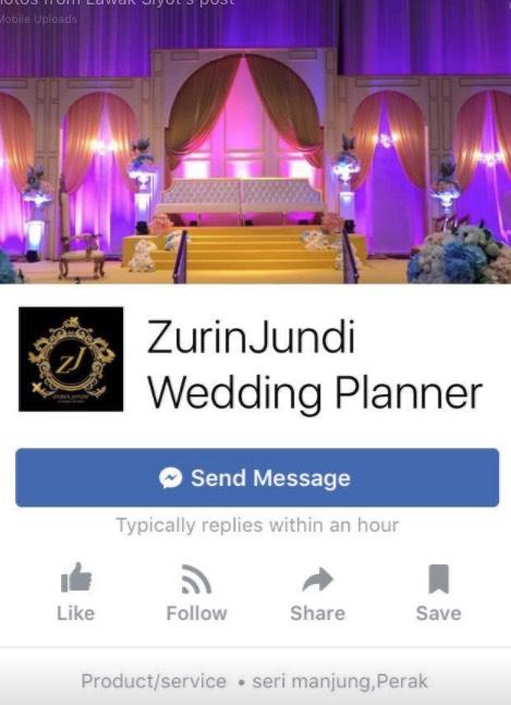 ZurinJundi Wedding planner menipu , ramai yang terkena!! viralkan!!