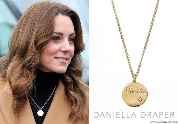 Kate Middleton Daniella Draper Personalized Gold Midnight Moon Necklace