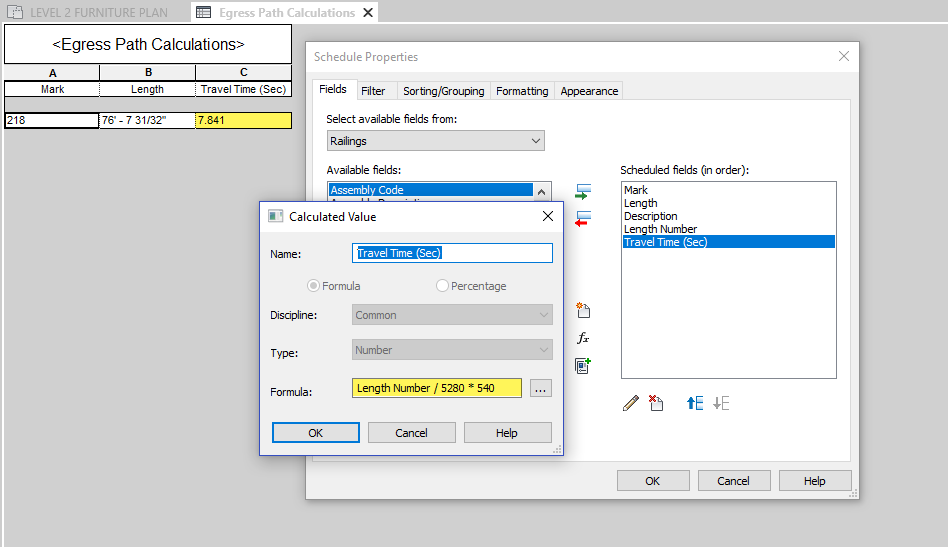 BIM Chapters: Travel Distance and Egress Path Options in Revit