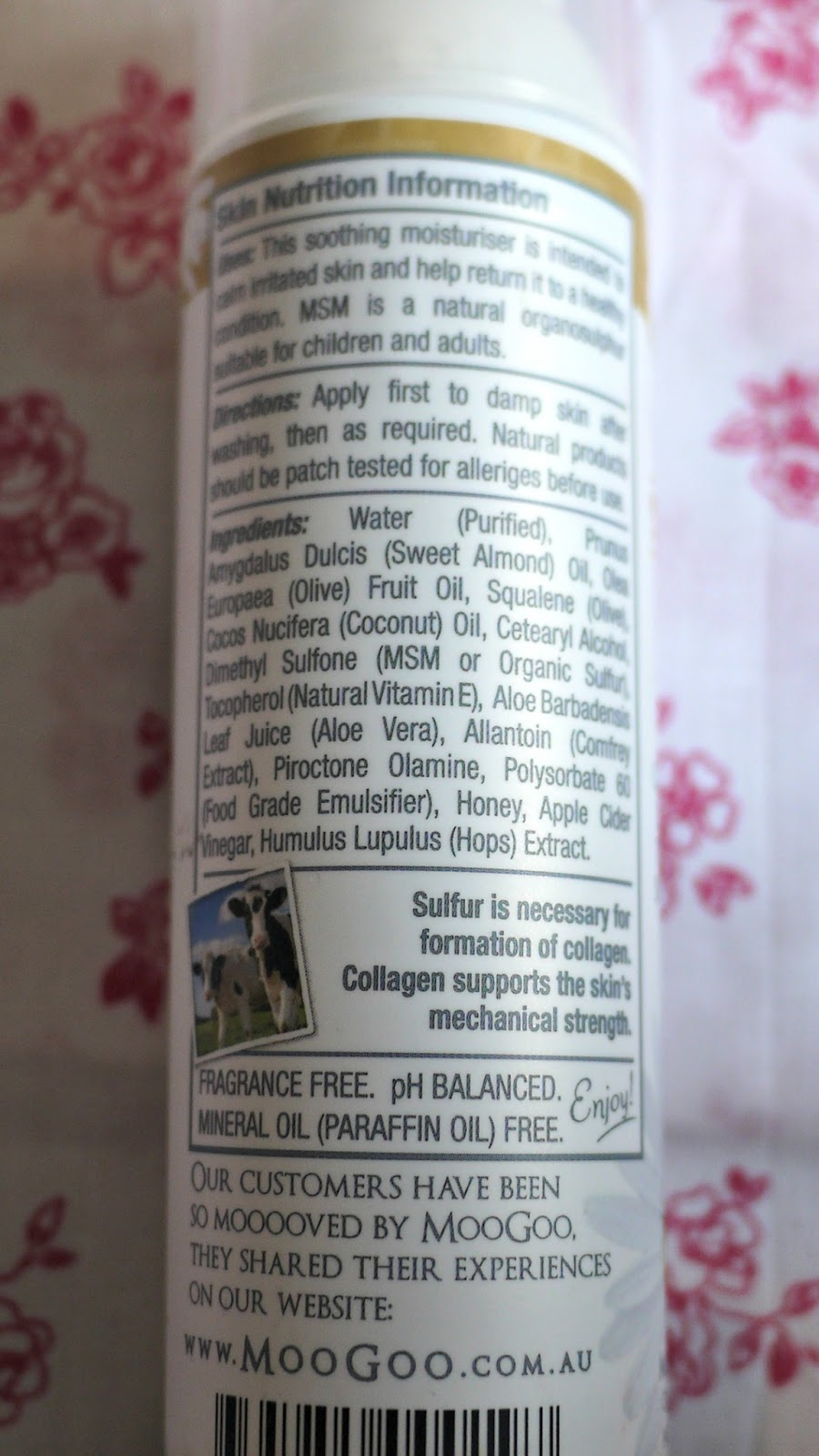 Moogoo Soothing MSM Eczema Cream  | Lux Life London