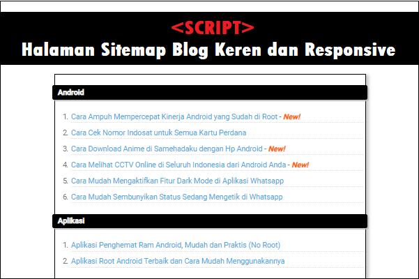 Cara Membuat Sitemap Otomatis dan Responsive di Blogspot