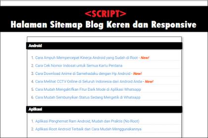 Kode Script Halaman Sitemap Blogger Keren dan Responsive