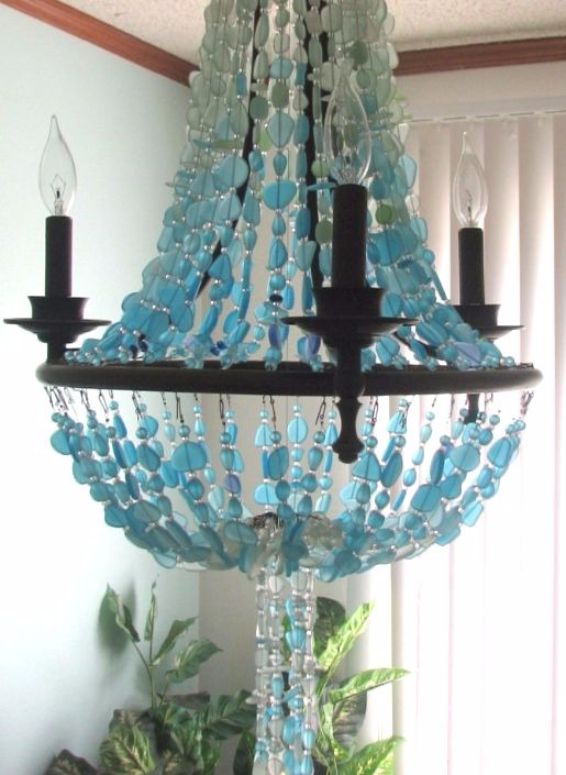 Sea Glass Chandelier