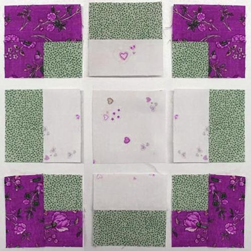 Antique Tile Quilt Block - Free Pattern
