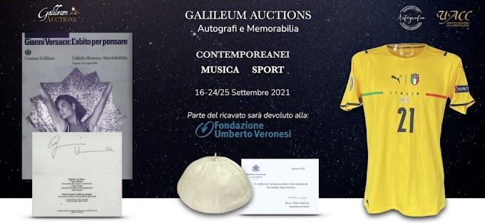Asta benefica per la Fondazione Umberto Veronesi con autografi e maglie dei Vip dello sport e dello spettacolo