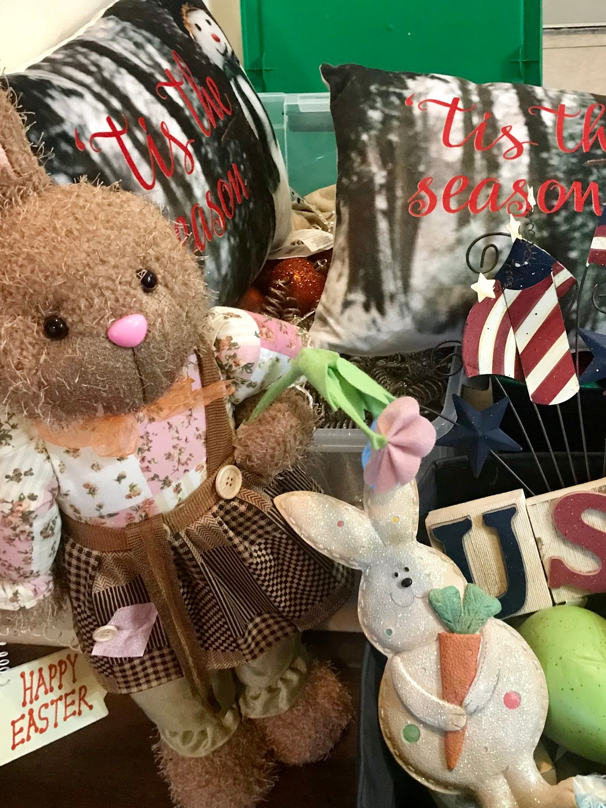 Tangie Bell is decluttering and donating all old holiday items to goodwill. Morning Babbles