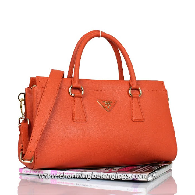 0c8c12b63789 Prada SOFT CALF LEATHER TOTE WITH DOUBLE HANDLE