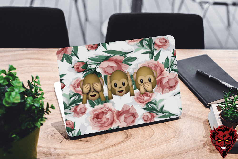 Flower Emogi Laptop Skin