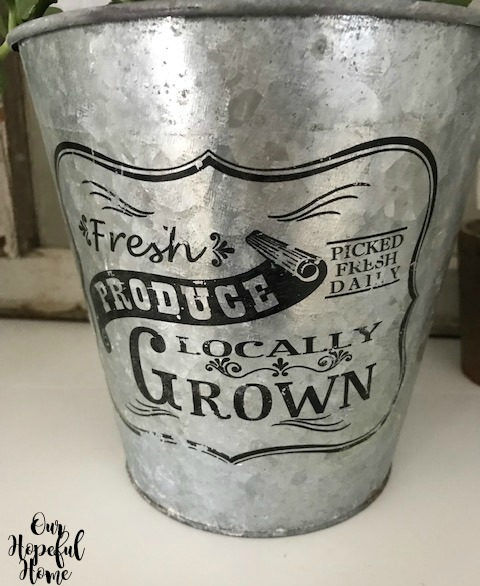 fresh produce picked fresh daily locally grown galvanized pail