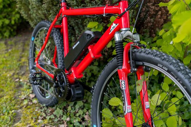 E-Bike-Umbau So baust du dir dein eigenes E-Bike mit Mittelmotor  DIY E-MTB Anleitung zum E-Bike Umbau mit Bafang BBS01 Mittelmotor E-Bike selber bauen aus altem Mountainbike 31