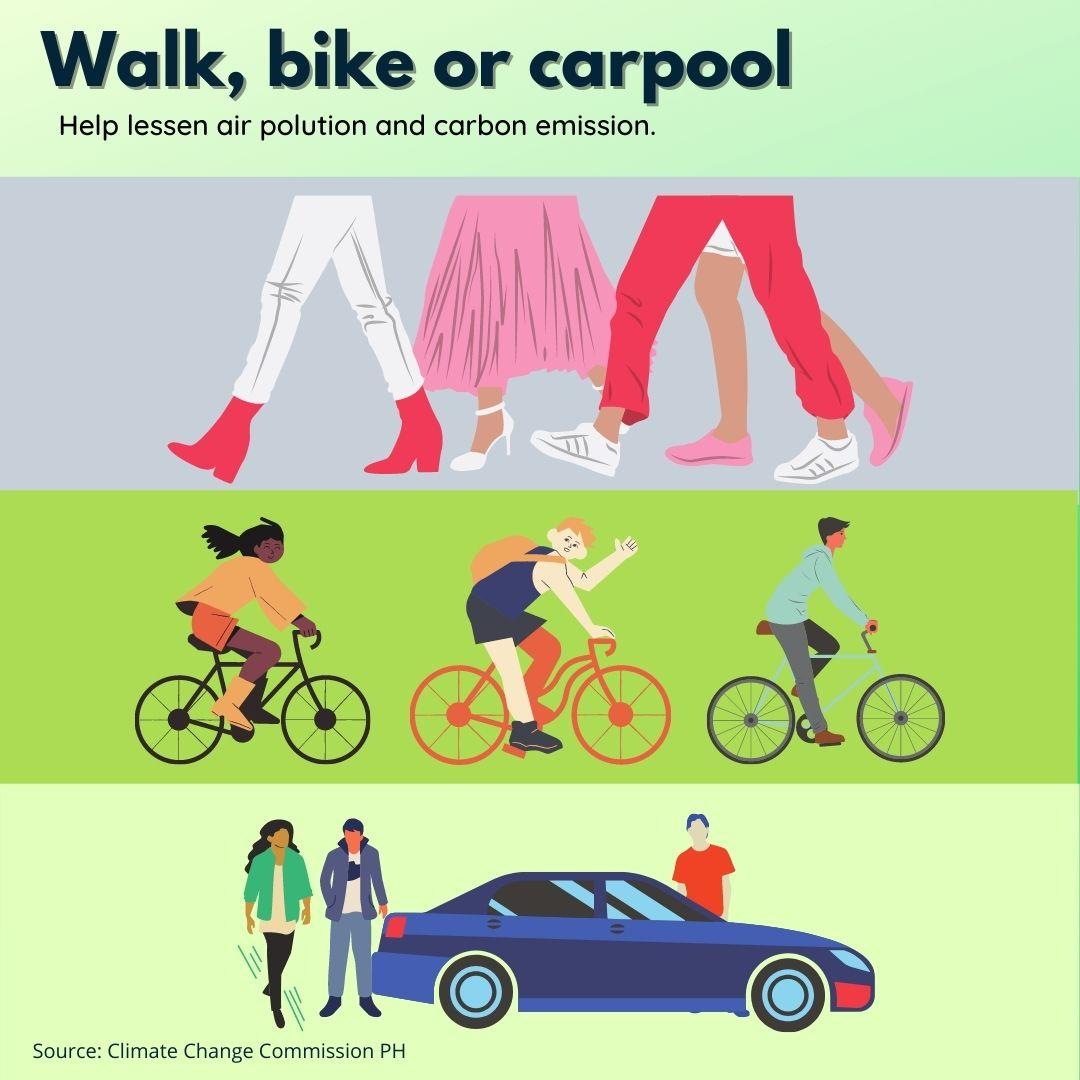 Walk Bike Carpool Poster