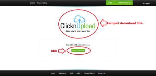 Cara Mudah Download di CLICKNUPLOAD