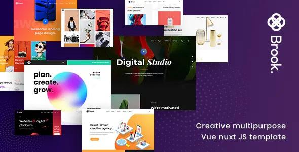 Best Creative Multipurpose Vue Nuxt JS Template