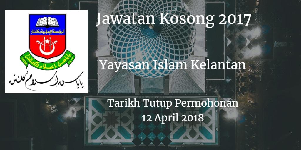 Jawatan Kosong YIK 12 April 2018