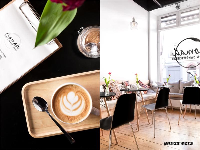 Latte Art und Tische im Eames Stil Nomad Heidelberg