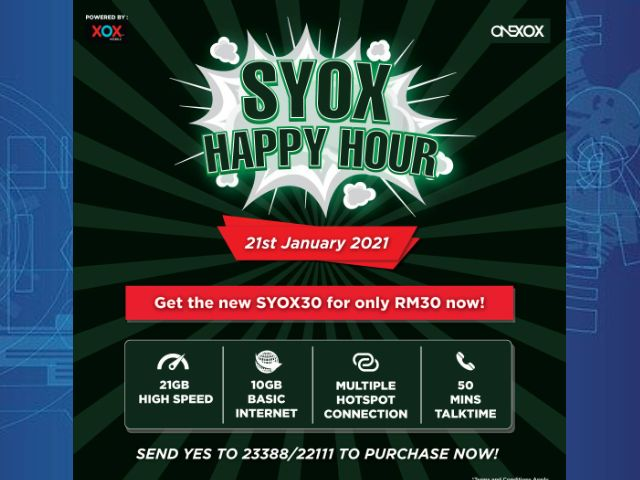 SYOX30 Produk TERBARU OneXOX Prepaid Bagi 2021