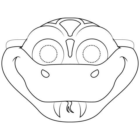 Tranh tô màu mặt nạ con rắn