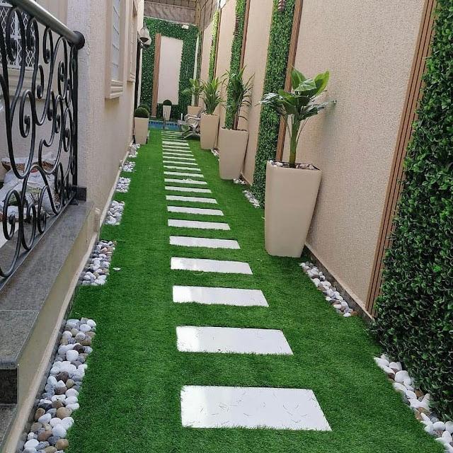 تنسيق حدائق الاستراحات والاحواش في جازان