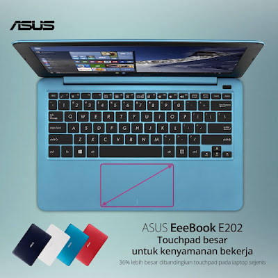 KEUNGGULAN ASUS NOTEBOOK E202