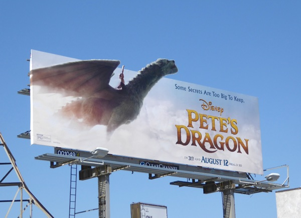 Pete's Dragon special extension movie billboard