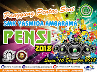 Desain Banner Pensi 2018 SMK Yasmida Ambarawa