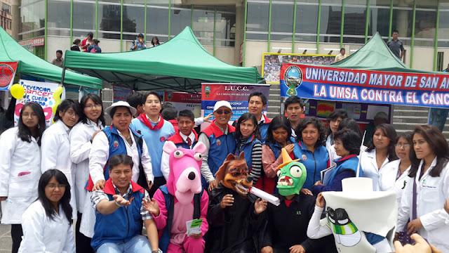 Voluntarios del programa La UMSA contra el cáncer