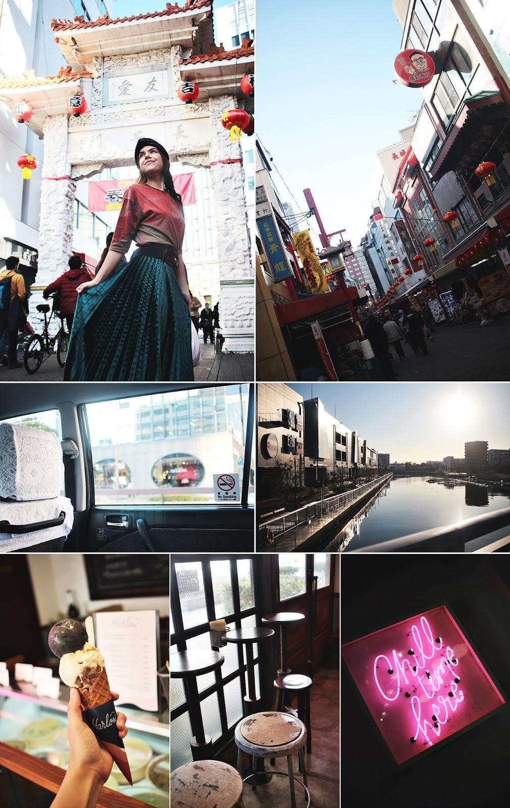 kobe china town taxi japan travel