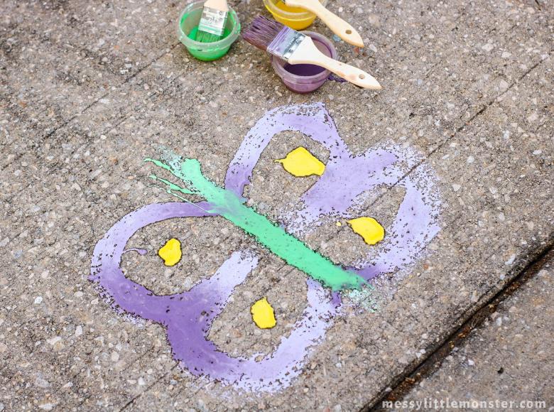 sidewalk chalk paint outdoor activities for kids