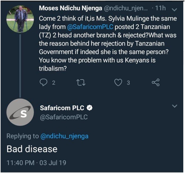 4 - Did someone hack Safaricom's official twitter account or the admin was high on weed, Last night's tweets shock Kenyans