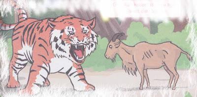 Dongeng Kambing dan Harimau