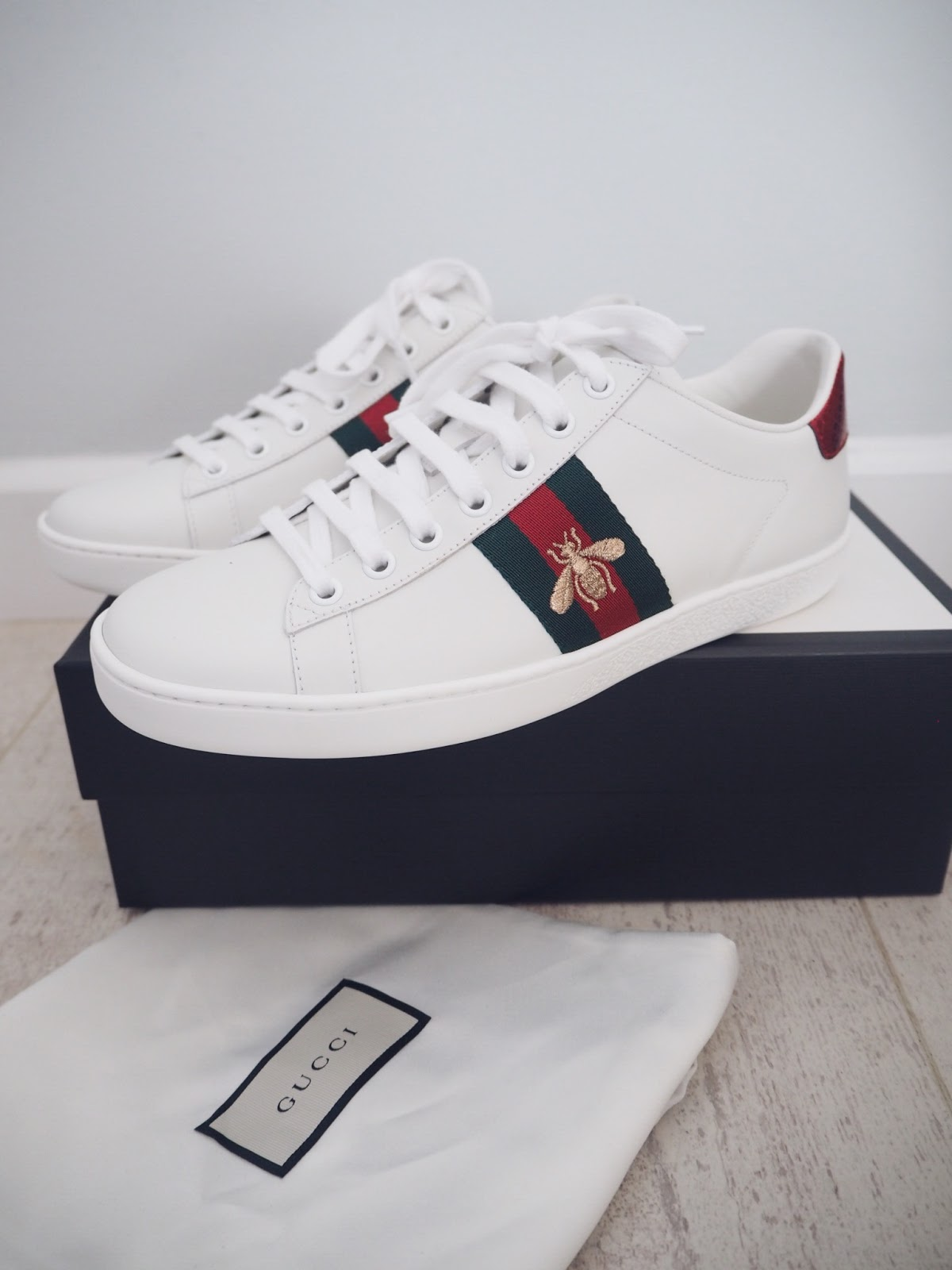 6f8b599a27a I also really like the Studded Pearl Sneakers and the Rhyton Chunky Sneakers.  Gucci do detachable patches to personalise and change up your trainers too  ...