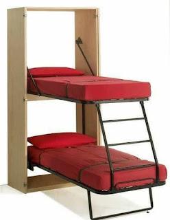 cama dobles de hierro y madera