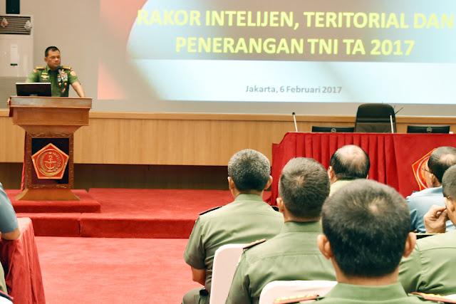 Panglima TNI: Satuan Intelijen, Teritorial dan Penerangan Harus Saling Bersinergi