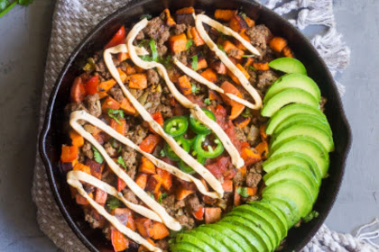 LOADED TACO SWEET POTATO SKILLET