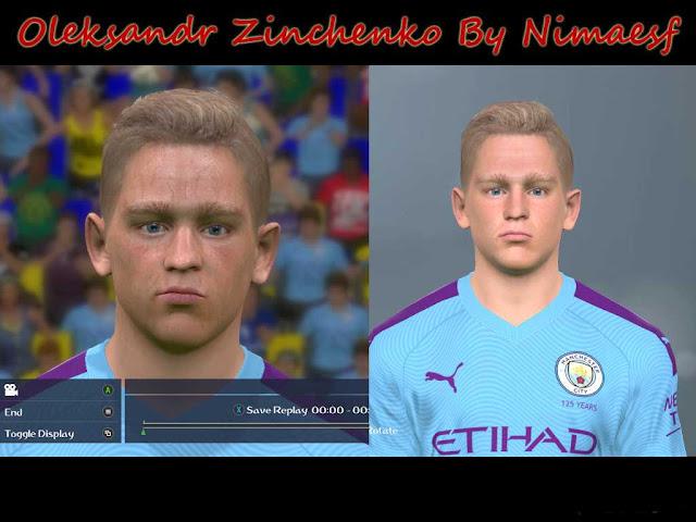 PES 2017 Oleksandr Zinchenko Face By Nimaesf