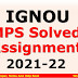 IGNOU MPS Solved Assignment 2021-22
