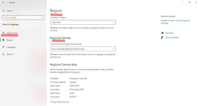 Cara Mengganti Region dan Regional Format di Windows 10
