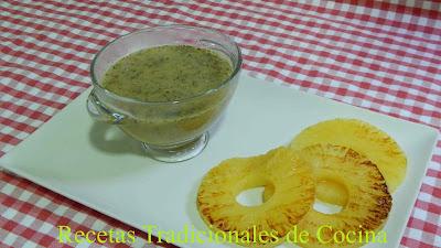 Receta de salsa de piña especial para carnes
