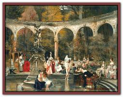 Купание дам дворца (по картине Франсуа Фламенга)