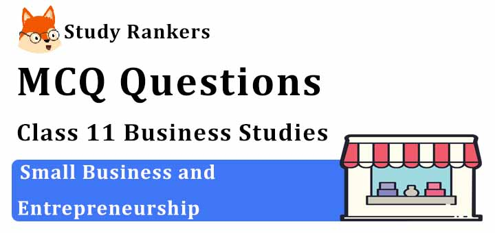 MCQ Questions for Class 11 Business Studies: Ch 9 Small Business and Entrepreneurship