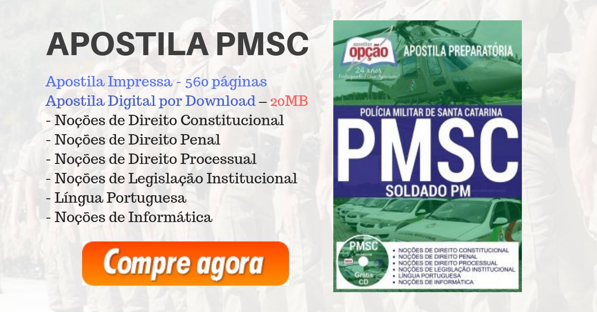 Apostila PM SC 2018 - Impressa ou PDF