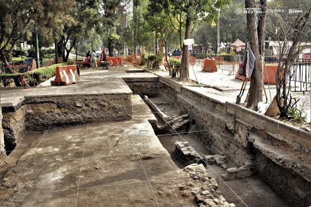 Foundations of pre-Hispanic house unearthed in Mexico City