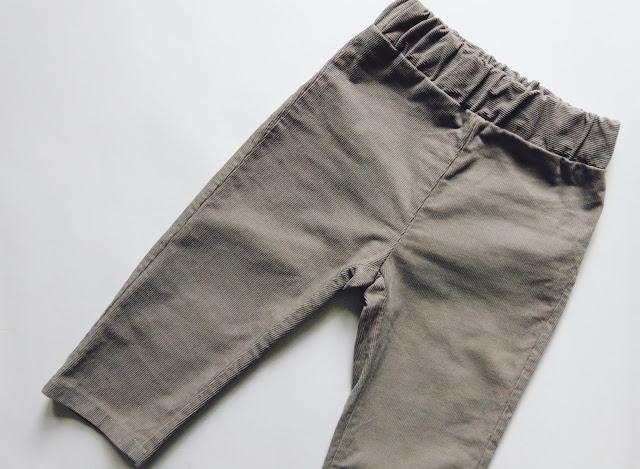 jak uszyć, dziecięce spodnie ze sztruksu